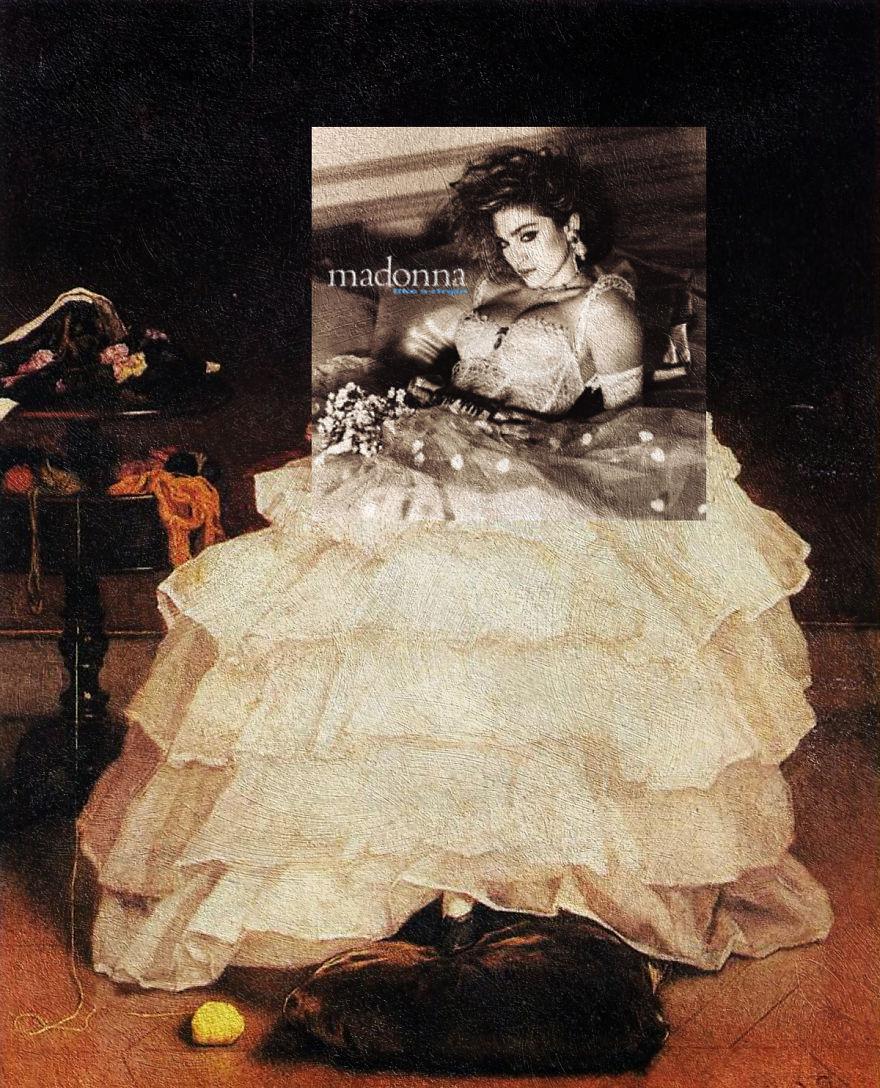 Klasszikus festmények modern albumborítókkal keverve
