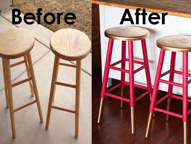 Egy unalmas bár székből igazán trendi darabot gyárthatsz pillanatok alatt.