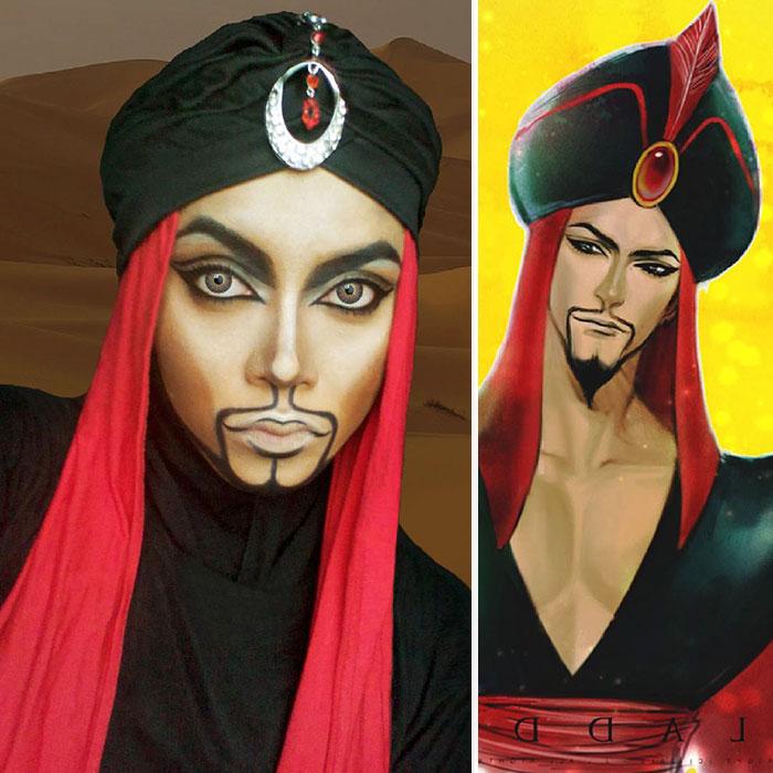 Elképesztő sminkekkel alakul át Disney-hősökké a muszlim nő - képek