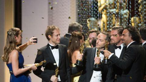 Oscar 2016: Nemes Jeles László, DiCaprio, Brie Larson és Kate Winslet közös fotókon