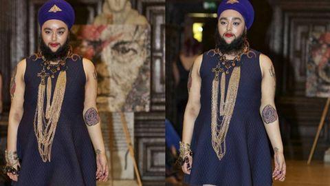 Kifutóra lépett az indiai szakállas nő – fotók