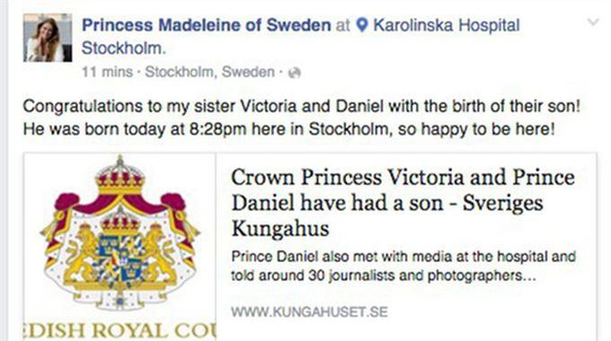 Megszületett Victoria hercegnő második gyereke