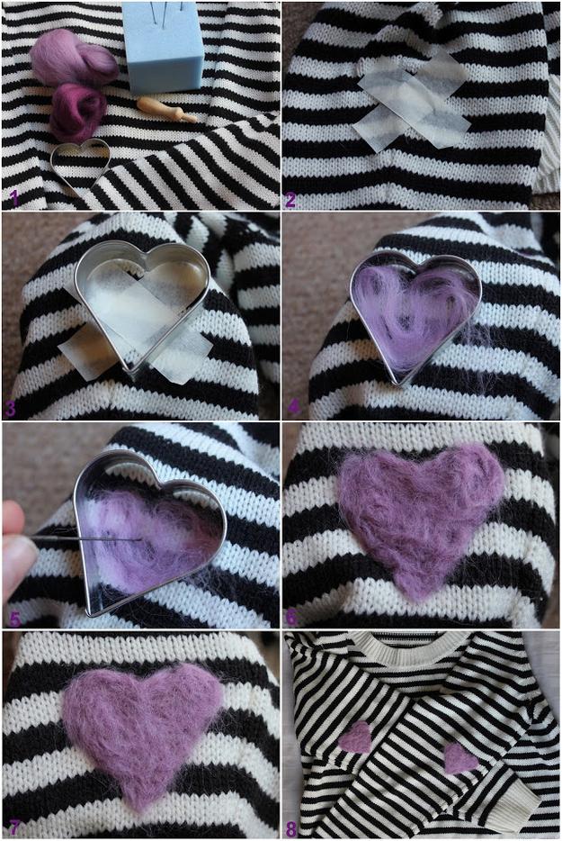 Öltöztesd fel a pulcsidat. Gondoltad volna, hogy a szív alakú sütőforma segít majd ebben?