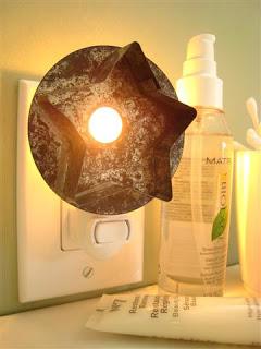 Mini lámpa csillagalakú sütiformából. Klassz. nem?