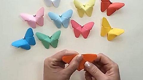 Így hajtogass könnyen csodás tavaszi pillangókat – videó