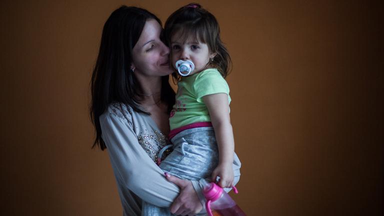 Dóri és lánya, Lili (Fotó: Magócsi Márton)