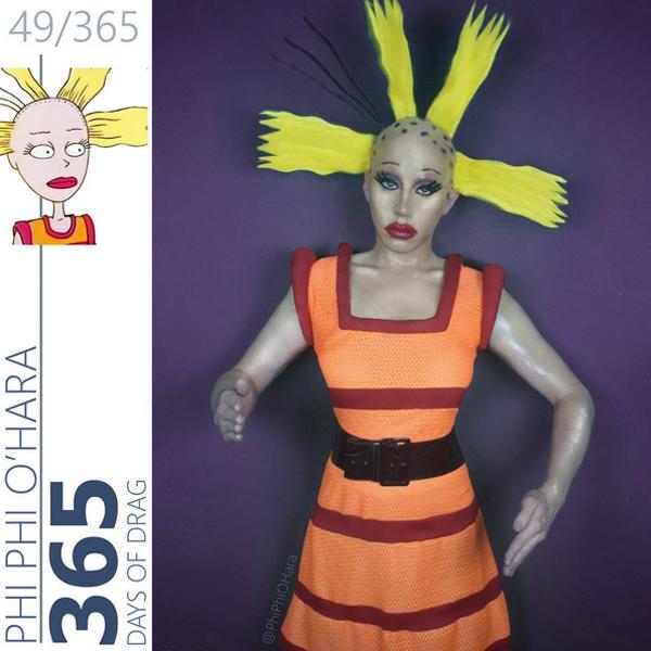 Rajzfilmfigurákká alakul át a transzvesztita művész - fotók