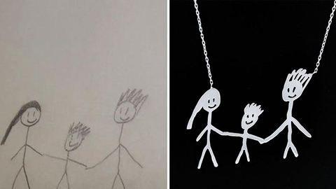 Gyerekrajzokból készítenek egyedi ékszereket a kreatív anyukák