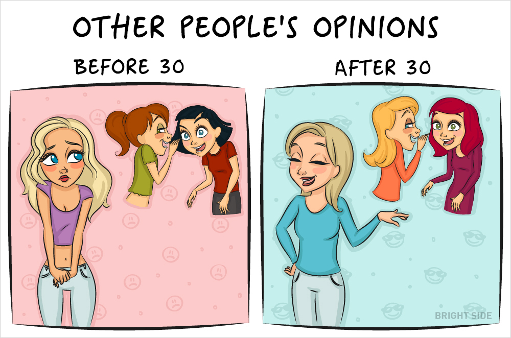 Vicces képek mutatják meg, hogy milyen az élet nőként 30 előtt és 30 után