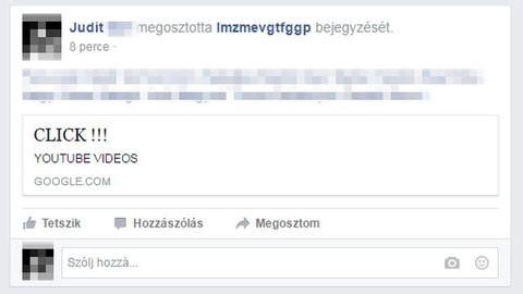 Új vírus fertőzi Facebook-profilunkat – ne kattintsd le!