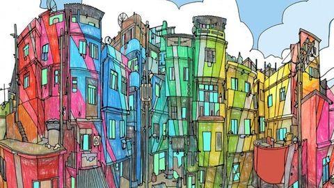 Felnőtt kifestő készült az épületek szerelmeseinek