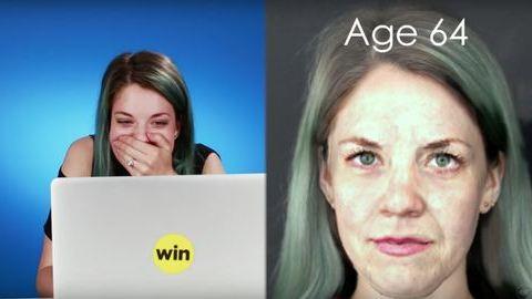 Kiakadtak a nők, amikor meglátták magukat öregen – videó