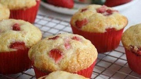 Gyors és egyszerű epres muffin receptje