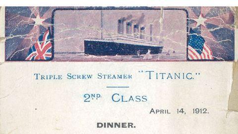 Ez volt a menü a Titanicon