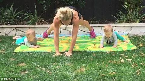 Napi húsz perc edzéssel nyolc hónap alatt visszanyerte a szülés előttialakját