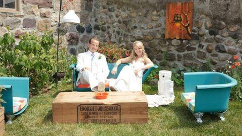 Csinálj magadnak kerti bútort lomokból!