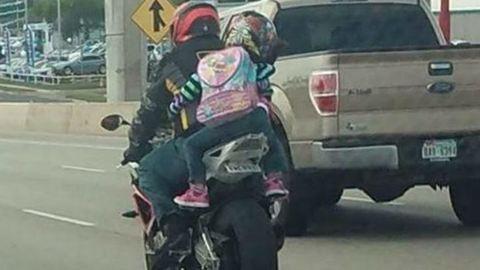 Nekimentek az anyának, mert motorra ültette hétéves kislányát