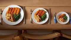 Megdöbbentő: ekkora a normál adag étel – fotók