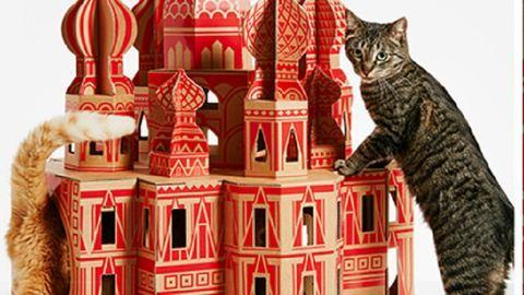 Az egész világot elhozhatod a macskádnak a kartonból készült házikókkal – képek