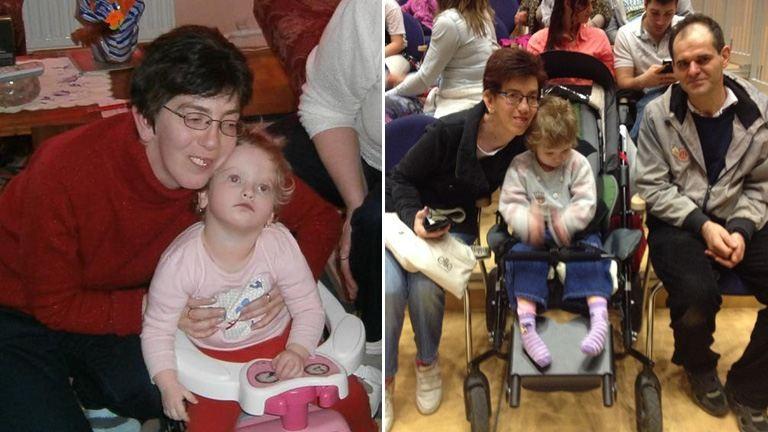 Egy ritka betegségben szenvedő kislány és szülei tökéletes napja