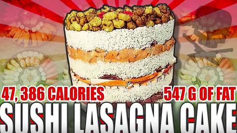 Ekkora szusi-lasagne tortát még nem láttál! – videó