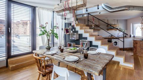 Egy otthon, ipari és vintage stílusban