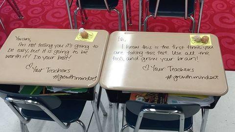 Inspiráló üzenetekkel lepte meg diákjait a tanárnő a vizsganapon