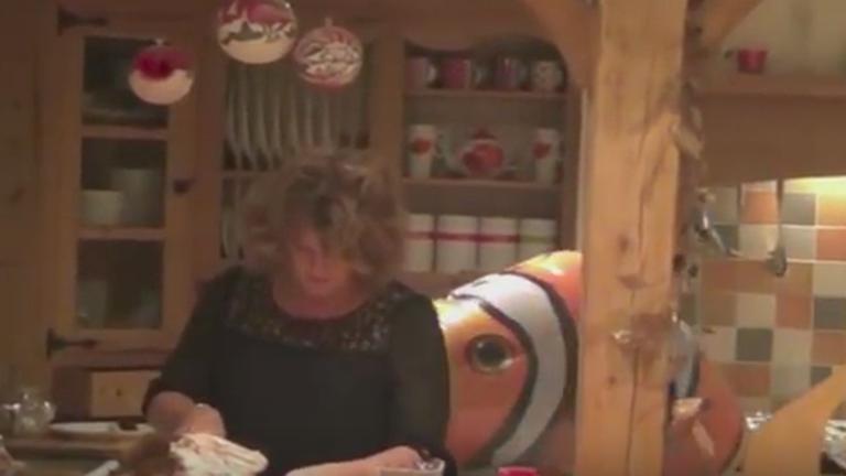 Óriási repülő hallal hozták a frászt anyjukra – vicces videó