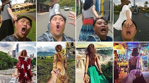 Zseniálisan kifigurázta a #followmeto utazós fotókat ez a pár – vicces képek