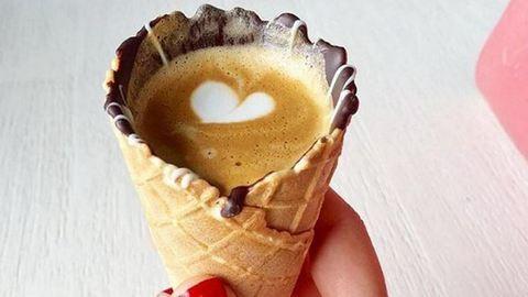 A fagyitölcséres kávéért őrülnek meg az Instagramon