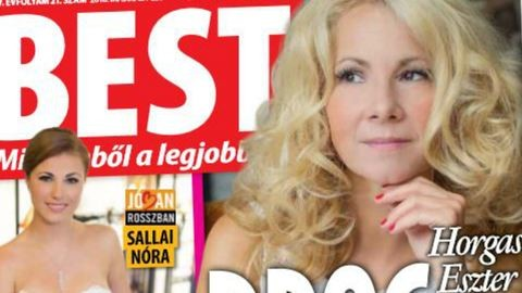 A drog segítette át rossz házasságán Horgas Esztert