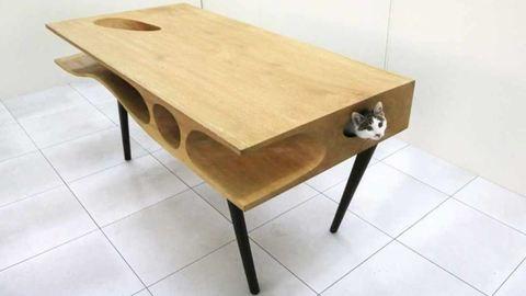 A macskád imádni fogja ezt az asztalt
