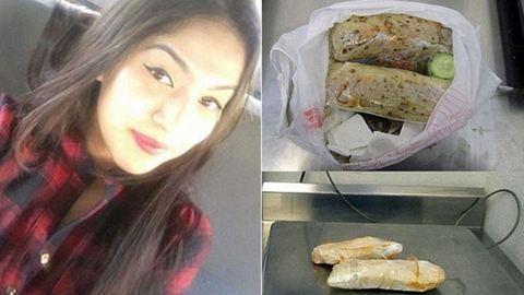 Burritóban akart drogot csempészni a 25 éves lány