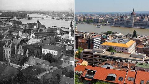 Így épült át Budapest az elmúlt 100 évben – akkor és most képek