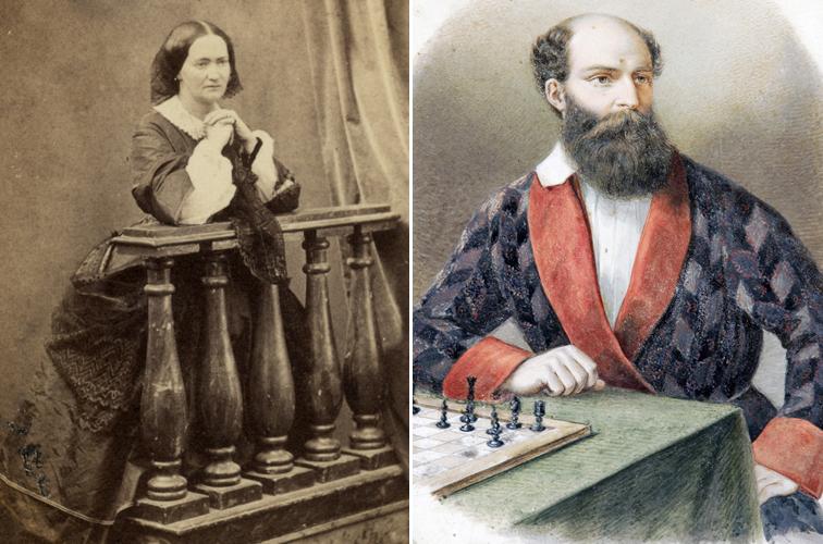 Zichy Karolina és sógora Batthyány Lajos