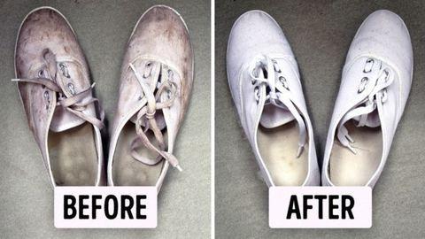 Így lehet ismét hófehér a tornacipőd!