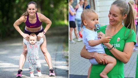 Szülés után a kisbabájával készült fel a riói olimpiára Erdélyi Zsófia maratoni futó