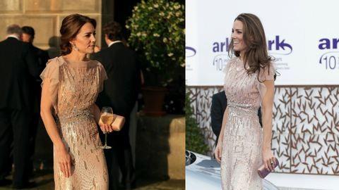 Katalin hercegné a régi ruháját kapta fel a partira