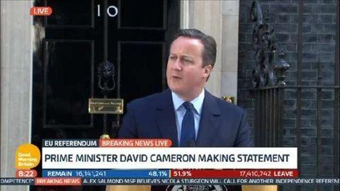 Brexit: lemondott David Cameron miniszterelnök
