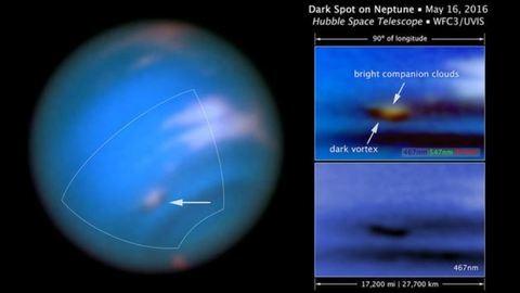 Rejtélyes fekete folt tűnt fel a Neptun légkörében