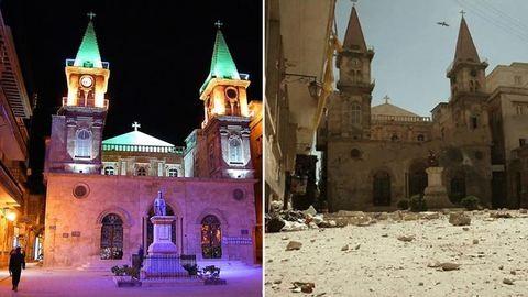 Előtte-utána: sokkoló képeken a lerombolt szíriai város