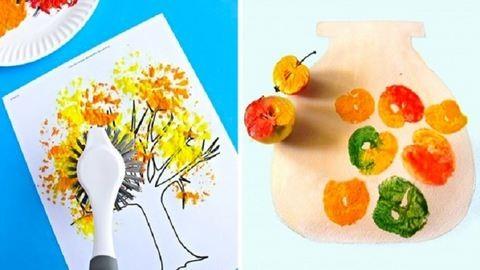 20 fantasztikus festési módszer, kreatív gyerekeknek