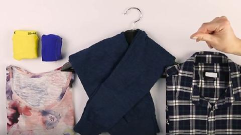 5 egyszerű módszer, amivel pár másodperc alatt azonnal rendet tehetsz a ruháid között