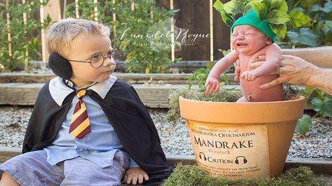 Imádja az internet a Harry Potter ihlette újszülöttfotókat