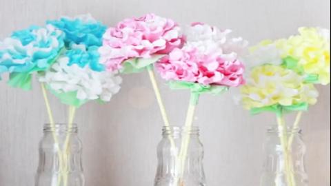 Csodás papírvirágok szalvétából – videó