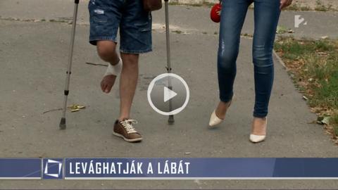 Orvosi hanyagság miatt levághatják a lábát