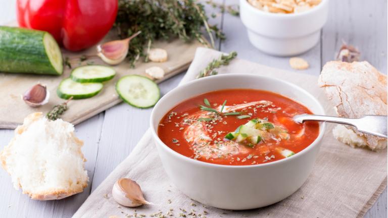 Gyors nyári zöldségleves: gazpacho