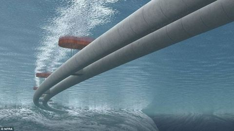 Víz alatti, lebegő alagutakat építenének
