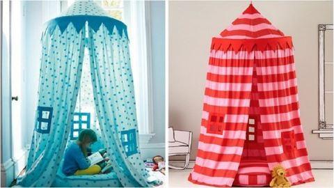 Így készíthetsz tüneményes beltéri sátrat a gyerkőcöknek
