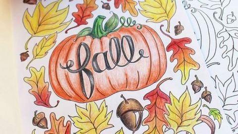 10 letölthető, nyomtatható őszi kifestő